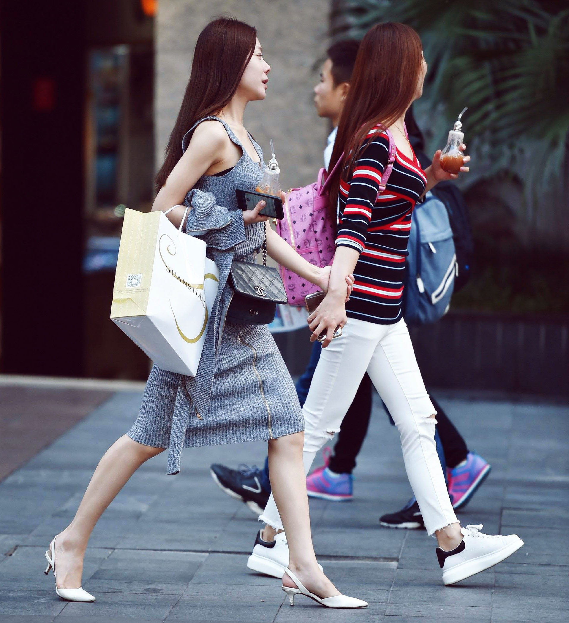 Chinese ladies shopping
